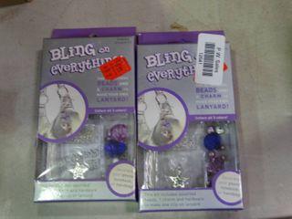 lot of 2 Bling Everything Beaded lanyard Kit