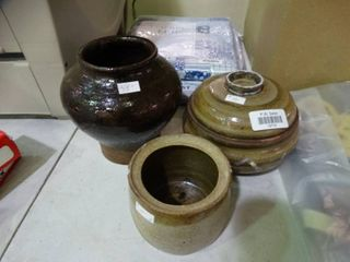 lot of 3 Handmade Pottery Pieces
