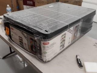 36  x 24  Storage Unit With 5 Shelves  Black