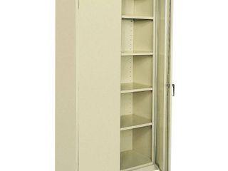Sandusky lee CA41361872 07  Welded Steel Classic Storage Cabinet  4 Adjustable Shelves  locking Swing Out Doors  72  Height x 36  Width x 18  Depth  Putty