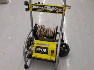 Ryobi Electric Pressure Washer 2000psi 1 2 GPM MISSING parts  accessories DAMAGED