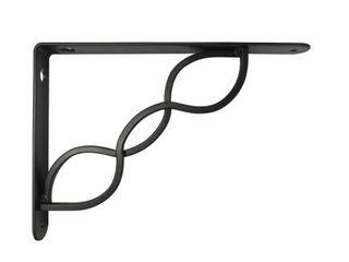 4  StyleWell 9 in  Black Triple Scroll Decorative Shelf Bracket
