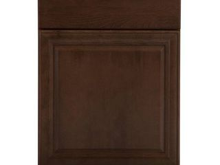 Hampton Bay Benton Assembled 24x34 5x24 in  Base Cabinet with Soft Close Full Extension Drawer in Butterscotch