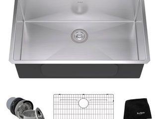 Kraus 32 inch Undermount Single Bowl 16 gauge Stainless Steel Kitchen Sink Durable T 304