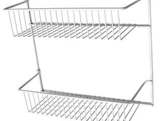 2 ClosetMaid 2 Tier Wall Rack  12 Inch Wide
