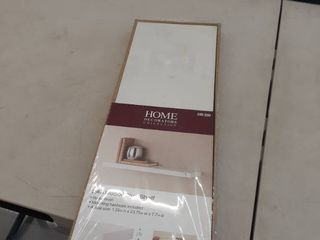 Home Decorators Collection 8 in  D x 24 in  l x 1 1 4 in  H Slim Shelf in White