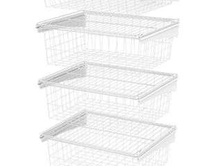 ClosetMaid ShelfTrack 4 Drawer Kit   White