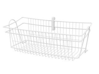 ClosetMaid ShelfTrack large Basket   White  7 25 In H x 19 25 In W x 8 In D