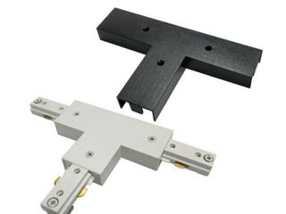 2 Hampton Bay 2400 Watt linear Track T Adapter Coupler with White and Black Cover