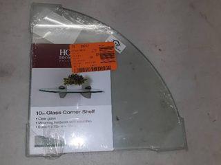 10 In Glass Corner Shelf  Mounting Hardware Sold Separatly