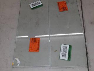 2  Glass Shelves 18  x 17    NO HARDWARE