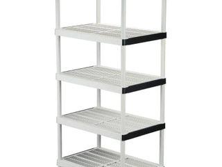 HDX Gray 5 Tier Plastic Garage Storage Shelving Unit  36 in  W x 72 in  H x 24 in  D