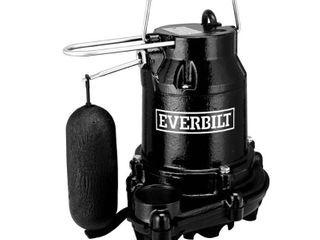 Everbilt 1 3 HP Cast Iron Sump Pump lOOKS USED