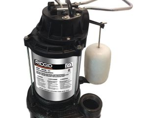 RIDGID 1 2 HP Stainless Steel Dual Suction Sump Pump VERY USED