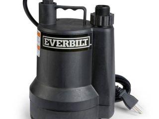Everbilt 1 6 HP Plastic Submersible Utility Pump USED