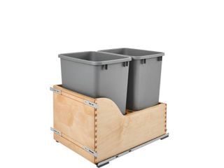 Rev A Shelf Double 35 Quart Pullout Waste Container   1 lid Included