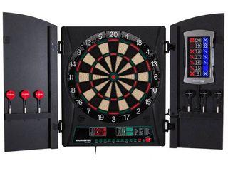 Bullshooter by Arachnid Cricket Maxx 1 0 Electronic Dartboard Cabinet Set