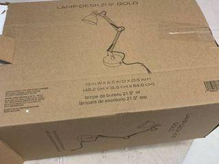 lamp Desk 21 5  Gold