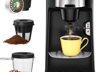 Sboly Coffee Machine 3 in 1  Tea   Coffee Maker for K Cup  Ground Coffee and Tea leaf  Single Serve Coffee Maker Brewer