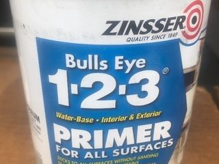 Case of 4 quarts of interior exterior primer great for a cover up by Zinsser