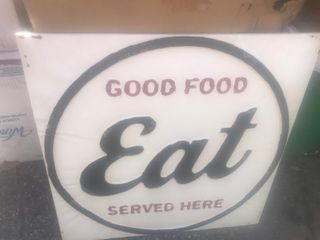 Nice metal decorative sign 20 x 20 metal grate for your restaurant or eatery