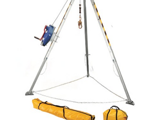 New tripod hoist as picture with winch high dollar items