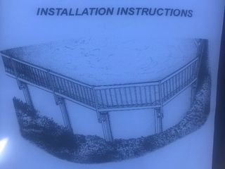 New six section 5 feet each above ground pool fence as pictured