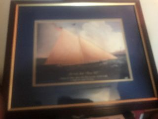 Nice framed and matted ship picture 20 x 20