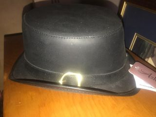 New ladies leather riding hat