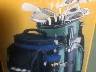 Get ready for summer golf with this golf cooler attaches to your golf bag as a picture
