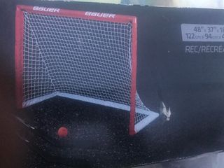 Pair of kids sport goals use for hockey or soccer practice