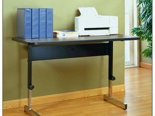 Utility Table  Adapta Adjustable Height Desk 48 Black Walnut  lt Grey