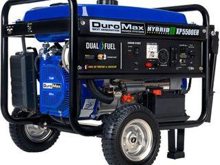 DuroMax XP5500EH 5500 Watt Electric Start Dual Fuel Hybrid Portable Generator