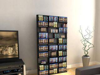 Atlantic 71 x40  Oskar 1080 Adjustable Shelf Wood Media Storage Wall Bookcase