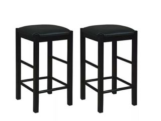 Set of 2 lancer Backless Counter Height Barstools   linon