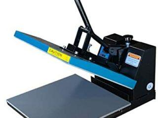 Fancierstudio DG Digital Heat Press Industrial Quality Digital 15 by 15 Inch Sublimation T Shirt Heat Press  Black DG Heat Press Black Blue