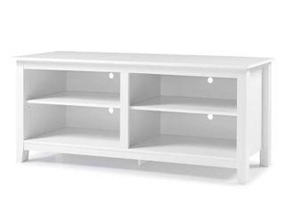 58  Essential TV Stand Console   White