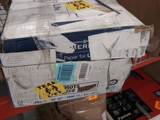 box of hammer mill paper approx 5000 sheets
