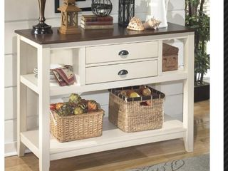 Signature Design by Ashley D583 59   Whitesburg Brown Cottage White Dining Room Server