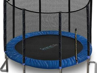 Outdoor Trampoline With Enclosure 12ft   Full Size Backyard Trampoline With Net