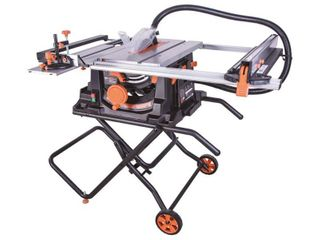 Evolution Power Tools 15 Amp 10 in  Table Saw with Multi Material 24 T Blade