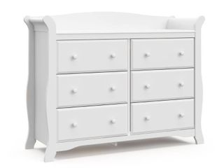 Storkcraft Avalon 6 Drawer Dresser   White
