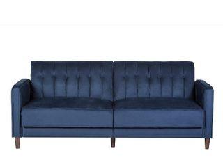 us pride Furniture deep blue sofa bed SB 9029
