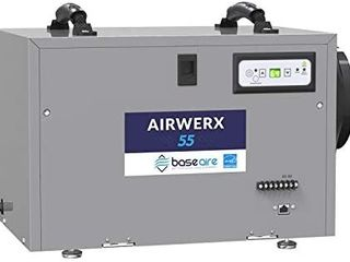 BaseAire AirWerx55 Energy Star Dehumidifier for Crawl Space Basement DAMAGED  CRACK ON PlASTIC