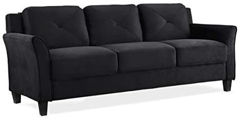 lifestyle Solutions Collection Grayson Micro fabric Sofa  Color is a shade of green and differs from stock photo