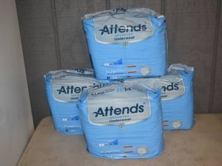 4 Bags of 14 Attends Advanced Underwear