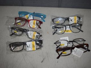 8 Pair Reading Glasses   3 25 to 4 00