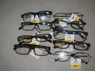 9 Pair Reading Glasses  1 25 to 2 75
