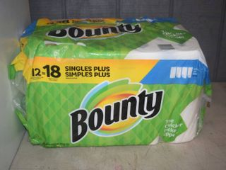 12 Rolls Bounty Paper Towels