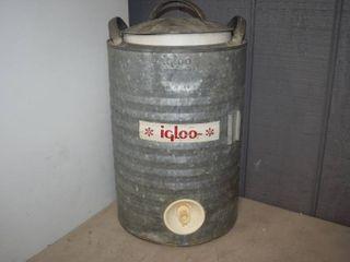 Vintage Igloo 5 Gallon Galvenized Cooler